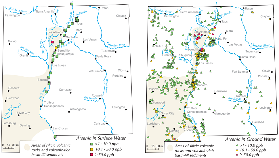 Maps of Arsenic in New Mexico