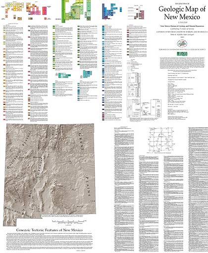 Geologic Map Of New Mexico - Detailed map of new mexico