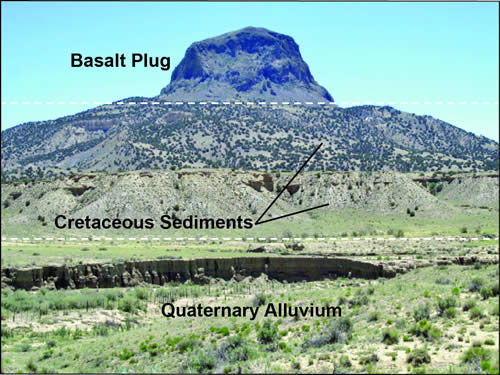 Cabezon Peak and sediments
